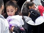 Back home: Ariana Grande was seen for the first time since a suicide bomber set off an improvised device at her concert in Manchester on Monday night