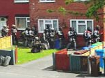 This is the moment armed police raided the south Manchester red brick semi home of concert suicide bomber Salman Abedi, 22