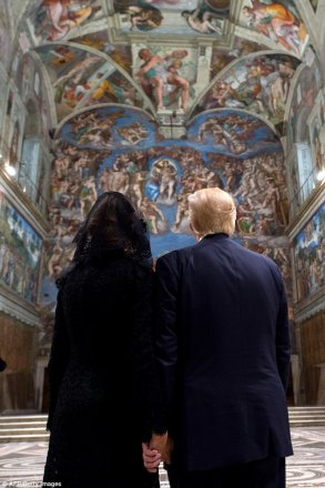 Image result for trumps in sistine chapel