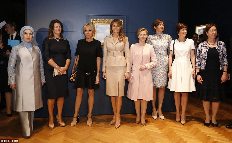 The two were joined by the spouses of other national leaders who attended Thursday's NATO summit