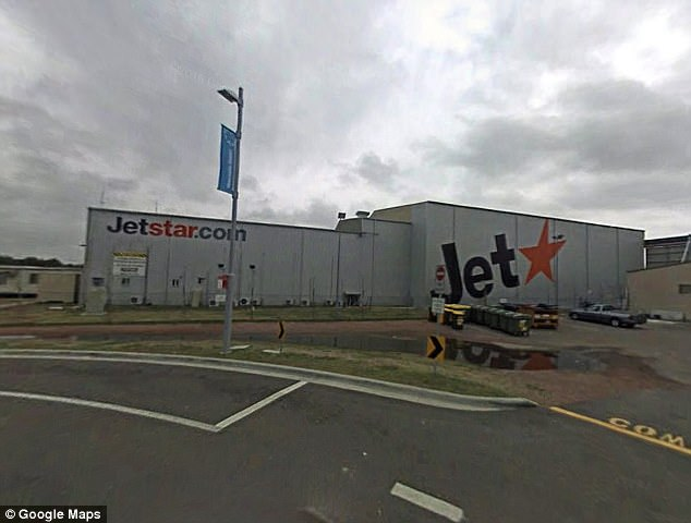 An Australian Transport Safety Bureau report said the Jetstar pilot mistook a neighbouring plane's dispatcher as their own when he began to taxi at Newcastle Airport (inset) on January 25