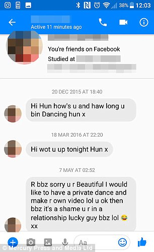 Several of the messages demand she speaks to them or call her a 'slut'