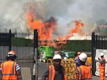 Four fire engines with 20 firefighters rushed to a fire at Wimbledon today