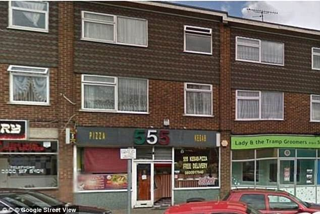 The girl was taken to the home of Rahani, a flat above the 555 Pizza and Kebab shop, where the horrific attack took place