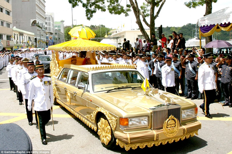 The Sultan of Brunei, Hassanal Bolkiah, lays claim to one of the world's biggest collection of cars and one of his more unusual specimens is a custom Rolls Royce Silver Spur limousine