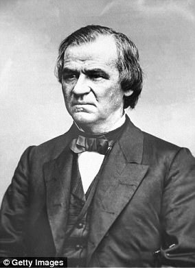 President Andrew Johnson was impeached in 1868 for violating an act to replace a member of his cabinet