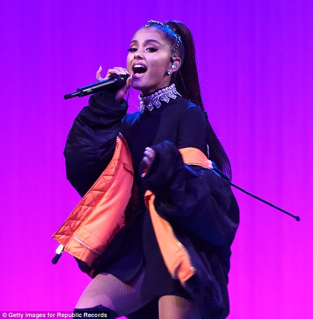 Ariana Grande, pictured, has confirmed she will return to Manchester for a benefit gig to support the families of the victims of the suicide bombing on Monday