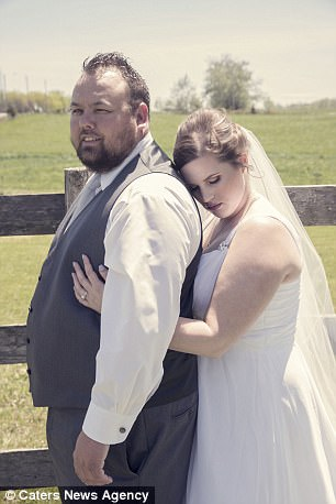 Happy: The couple were married on May 20 in Ontario, Canada, and before heading to their ceremony in a local hall