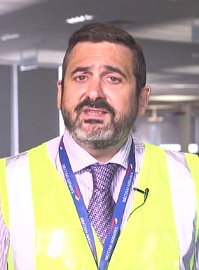 Alex Cruz pictured in a video on BA's internal social media system