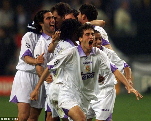 Real were led by young attacker Raul, who went on to become a club legend