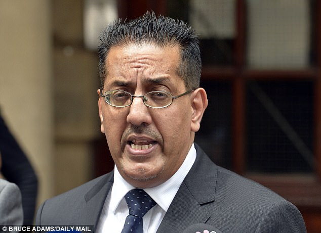 Mr Afzal (pictured speaking after the sentencing of Stuart Hall), led the Crown Prosecution Service (CPS) in North West England from 2011 to 2015
