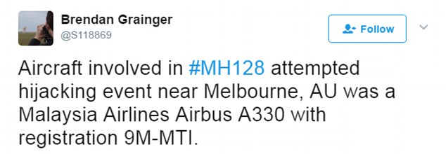 "'Malaysia Airlines would like to stress that at no point was the aircraft ""hijacked"",' a statement from the airline read"