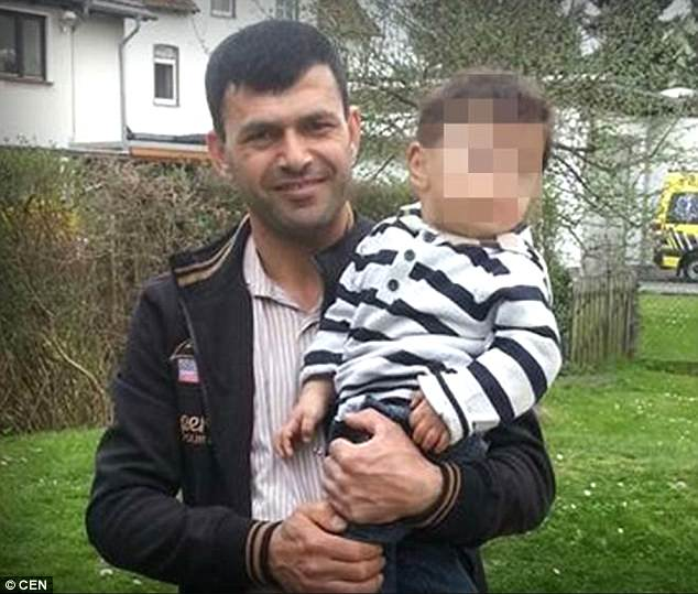 Nurettin B (pictured), who tied a noose around the neck of his ex-wife and dragged her by car around a town in Germany as their two-year-old child sat behind him has been jailed for 14 years