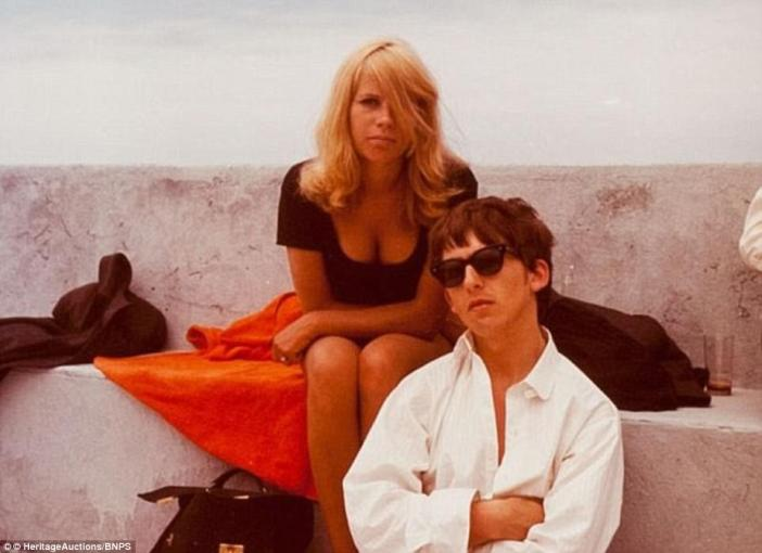 George Harrison begged his friend, photographer Astrid Kirchherr (pictured together in Tenerife), to let him use photographs in his new book