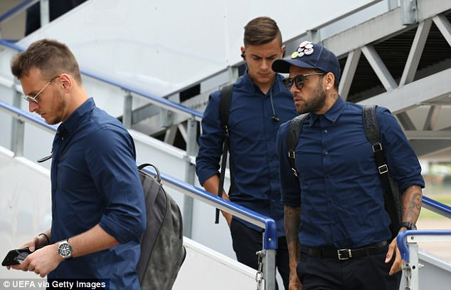 Dani Alves (right) has been a star performer for the Italians and will look to continue his form