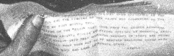 David Rudiak, a UFO researcher, has used modern technology to zoom on the letter