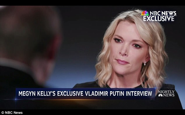 'Hackers can be anywhere,' the Russian leader told NBC News' Sunday Night With Megyn Kelly (above). 'They can be in Russia, in Asia...even in America, Latin America. They can even be hackers, by the way, in the United States, who very skillfully and professionally, shifted the blame, as we say, on to Russia'