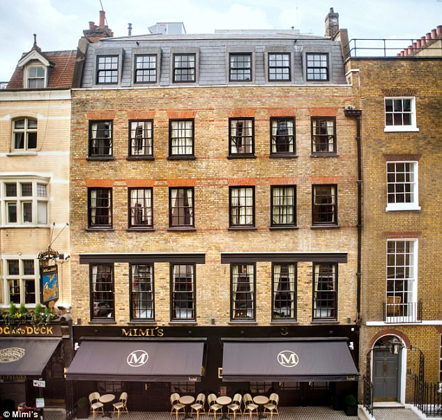 Capital calling: The Daily Mail's Inspector called into Mimi's in the heart of London's Soho, where double rooms start from £150