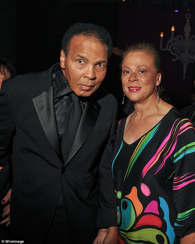 Before his father's death, Ali, Jr, and his uncle, Muhammad Ali's younger brother, Rahman, have accused others in the extended family of cruelly leaving them in varying degrees of financial hardship as Ali and Lonnie (right) lived in the lap of luxury