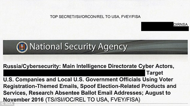 An NSA document published by The Intercept reveals a Russian-backed effort to target local government officials and U.S. firms as part of the campaign