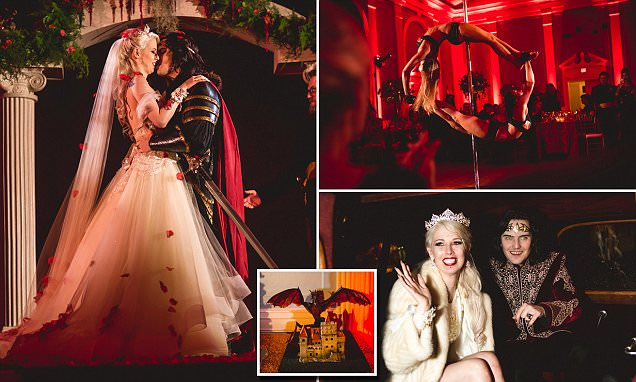 Vampire Obsessed Couple Ties The Knot In 120000 Wedding