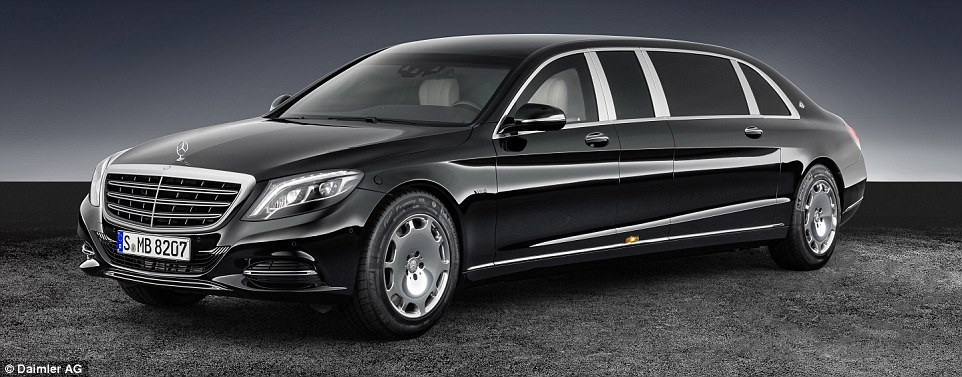 Mercedes-Benz took the Mayback to a whole new level with a 5.5 tonne armoured stretched limousine version called the S600 Pullman Guard