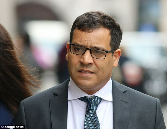 Mohamed Amrani, 54, (pictured at the Old Bailey) was found guilty of twice groping a woman's breasts through her clothes at the Harefield Hospital