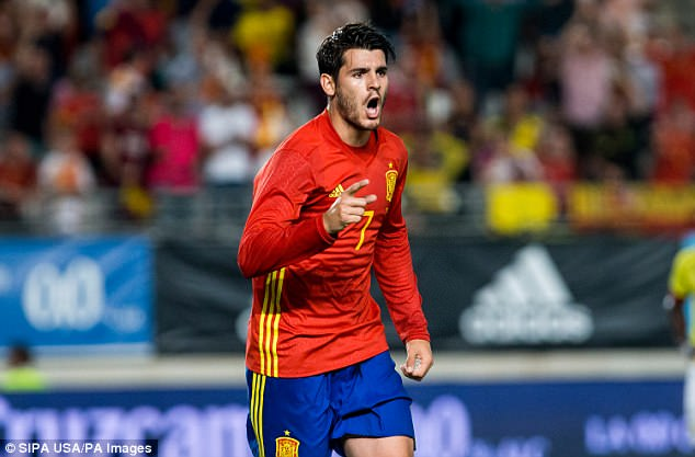 Morata scored for Spain in the 2-2 draw against Colombia in Murcia on Wednesday night