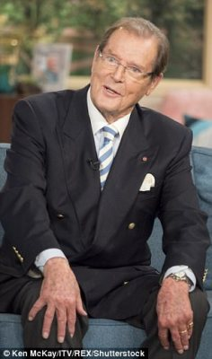 Sir Roger Moore pictured in October 2016