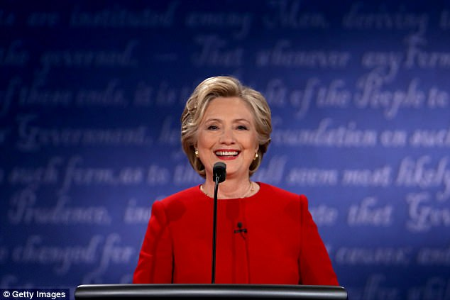 Democratic presidential nominee Hillary Clinton speaks during the Presidential Debate at Hofstra University on September 26, 2016 in Hempstead, New York. Her campaign was rocked by an FBI investigation into her emails