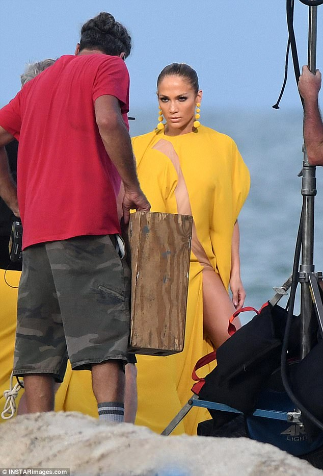 That $10 million look: The Bronx native shot a J-Lo stare