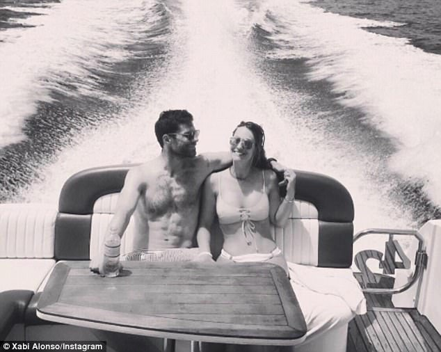 Xabi Alonso has been celebrating the birthday of his wife Nagore Aranburu