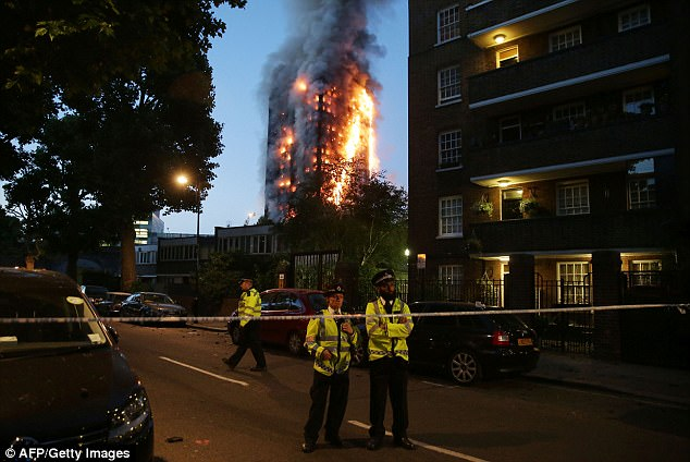 Since the devastating blaze (pictured), which killed at least 58, suspicion has focused on how and why the cladding on the building both burned and helped the fire spread by acting a chimney