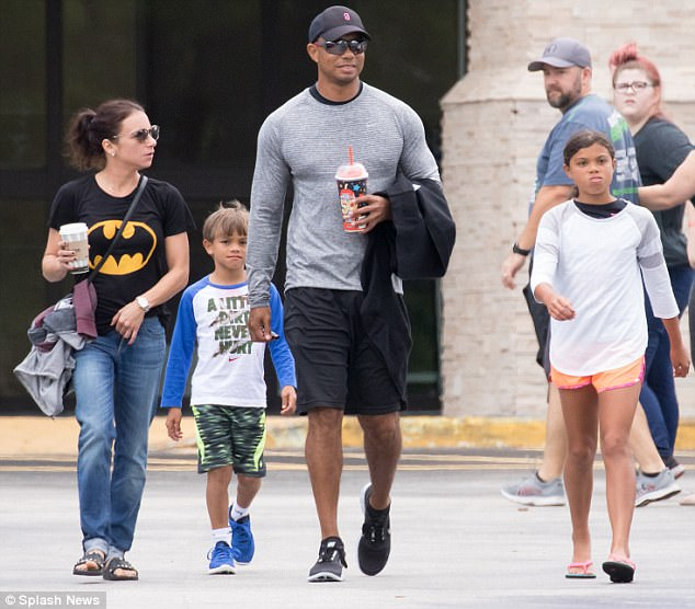 tiger woods children pictures ages
