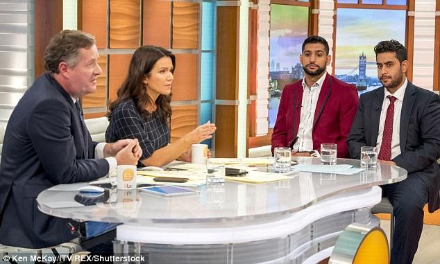 Khan apareció en Buenos días Gran Bretaña de hoy, junto con Muhbeen Hussain, presidente de British Jóvenes Musulmanes, donde habló sobre su preocupación por su hija Lamaisah, dos