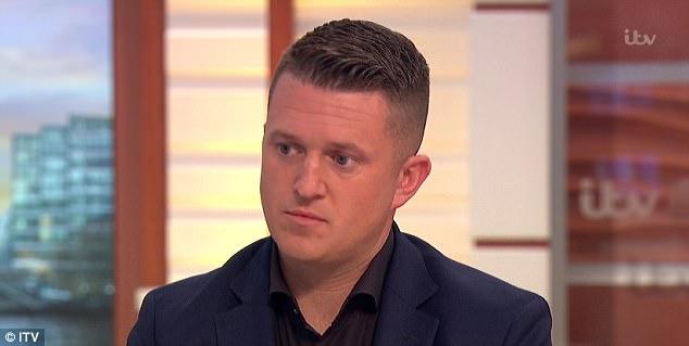 El activista de extrema derecha, apareció en el programa después de que tomó a Twitter tras el ataque terrorista de ayer acusando a la mezquita de Finsbury Park 'de la creación de los terroristas'