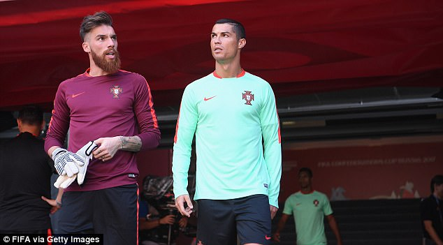 Ronaldo is currently away with Portugal at the Confederations Cup in Russia