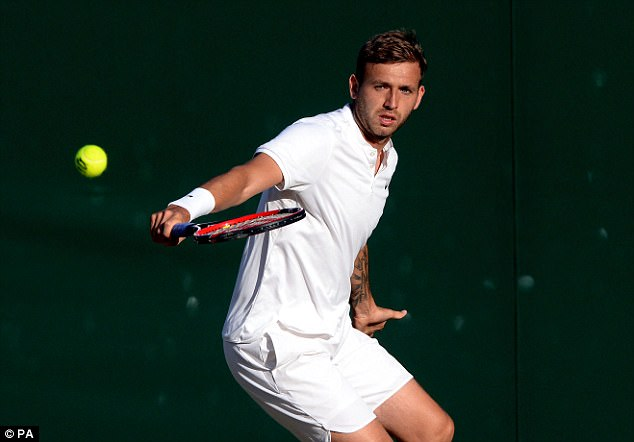 Evans is currently ranked No 3 in Great Britain and No 50 worldwide but could miss Wimbledon