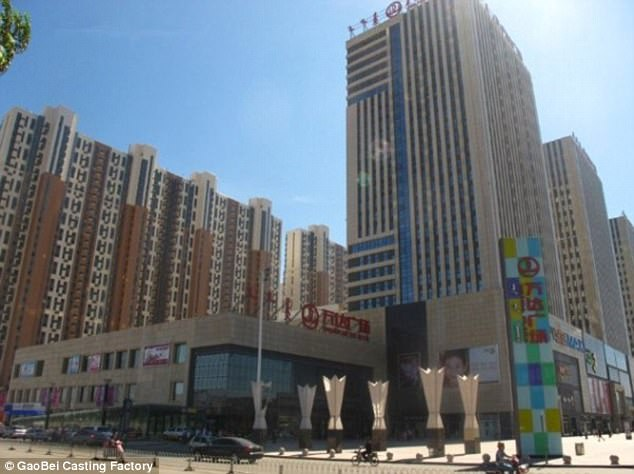 An eyewitness said the animals were maltreated  in Wanda Plaza in Hohhot (pictured)