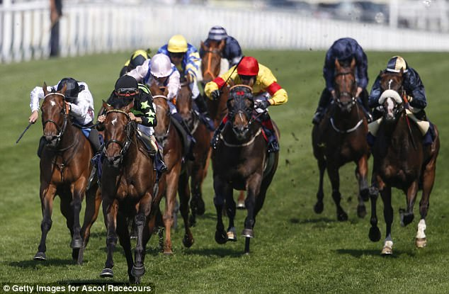 American challenger Lady Aurelia (black and green) was the winner of the King's Stand Stakes