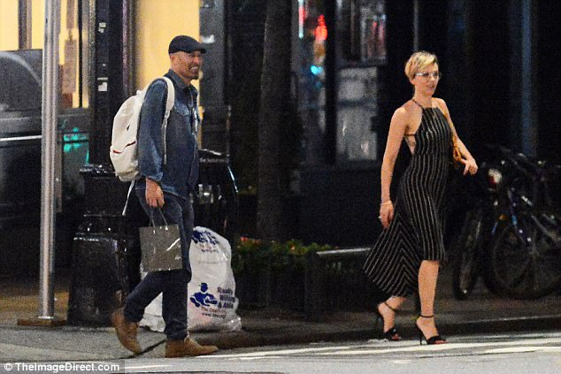 Step by step: The actress led the way in her gorgeous heels as her pal followed behind
