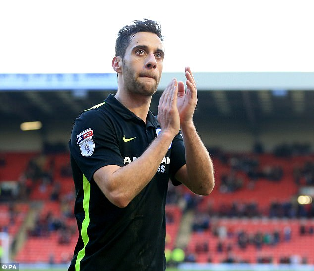 Baldock has played 88 games for Brighton following his move in 2014, scoring 20 times