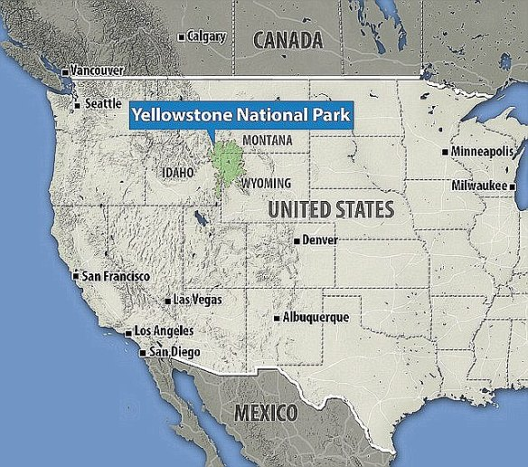 Yellowstone National Park spans the midwestern US states of Wyoming, Idaho and Montana (pictured)