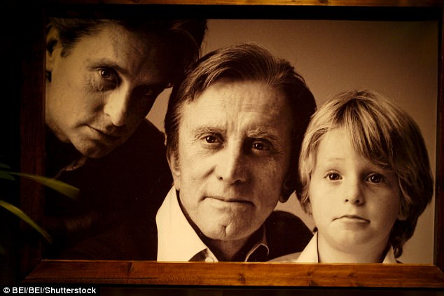 Michael Douglas (right, with dad Kirk Douglas center, and a young Cameron) blames himself for his wayward son. Cameron had a leg and finger broken for 'ratting' on his drug suppliers