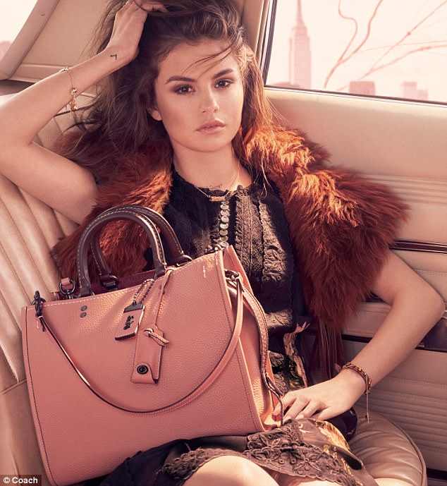 So stylish! In three new images, she models the brand's clothes and accessories