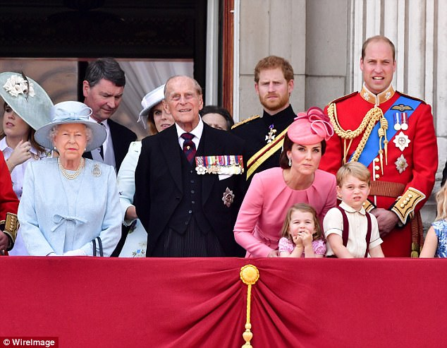 Harry has never kept secret his lack of desire for the 'top job' – and now appears to be suggesting that no one else in his family, including his brother William, wants it either (the royal family, pictured earlier this month)
