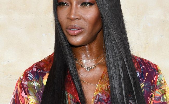 Naomi Campbell Rocks A Floral Shirt Dress In Paris Daily