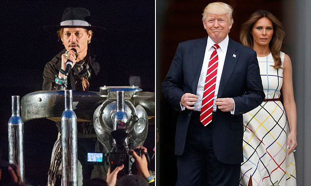 Johnny Depp talks about assassinating Trump at Glastonbury