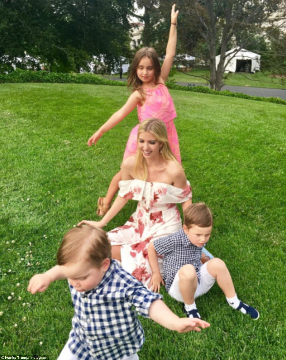 Ivanka Trump posted these seven pictures on her Instagram account from the Congressional Picnic at the White House