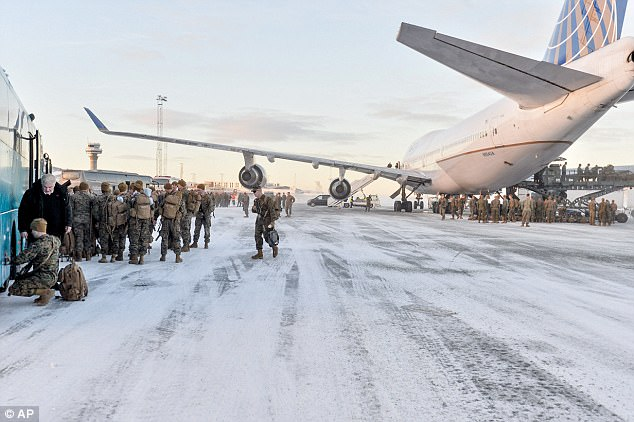 'We consider that this step contradicts Norwegian policy of not deploying foreign military bases in the country in times of peace' said the Russian Embassy about the troops